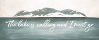 The Lake is Calling Fine-Art Print