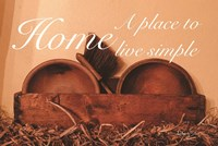 Home a Place to Live Simple Fine-Art Print
