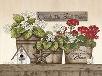 Cherish the Small Things Geraniums Fine-Art Print