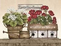 Count Your Blessings Geraniums Fine-Art Print