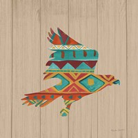 Southwestern Vibes III on Walnut Fine-Art Print
