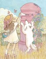 Sweet Girl At The Mailbox Fine-Art Print
