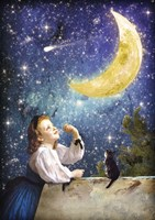 One Wish Upon the Moon Fine-Art Print