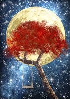 Swing Under a Golden Moonlight Fine-Art Print