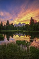 Last Rays Over The Grand Tetons Fine-Art Print