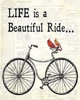 Bicycle With Cardinals B Fine-Art Print