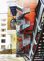 Staircase Contrasts Fine-Art Print