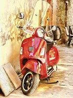 The Red Vespa Fine-Art Print