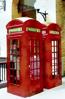 Two Red Telephone Boxes Fine-Art Print