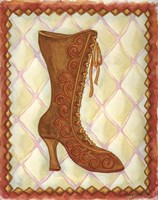Boots Brown With Curlicues Fine-Art Print