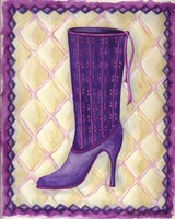 Boots Purple With Tiny Flowers Fine-Art Print
