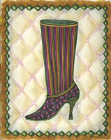 Boots Striped With Paisley Fine-Art Print