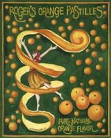 Food Labels Orange Pastilles Fine-Art Print