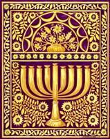 Hanukah Menorah On Magenta Fine-Art Print