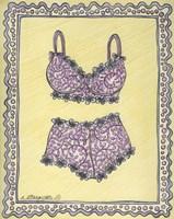 Lingerie Pink Bra Panties Fine-Art Print