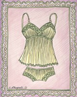 Lingerie Yellow Cami Set Fine-Art Print