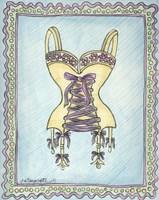 Lingerie Yellow Merry Widow Fine-Art Print