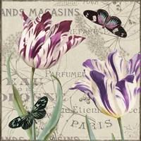Vintage Flowers I Fine-Art Print