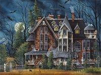 Decorating the Haunted House Fine-Art Print
