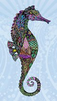 Electric Seahorse-Girl Fine-Art Print