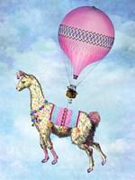 Flying Llama Fine-Art Print
