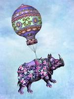Flying Rhino Fine-Art Print
