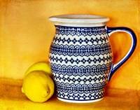 StillLife-Pitcher With Lemons Fine-Art Print