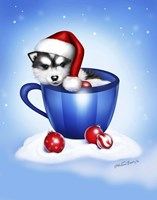 Christmas Coffee Dog Fine-Art Print