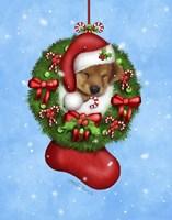 Christmas Stocking Puppy Fine-Art Print