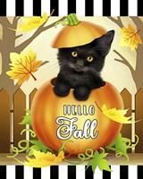Hello Fall Cat Fine-Art Print