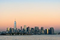 Manhattan Skyline At Sunset Fine-Art Print