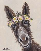 Donkey Rufus Flower Crown Fine-Art Print