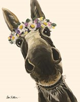 Donkey Snickersflower Crown Cream Fine-Art Print