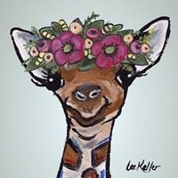 Giraffe Flower Crown Fine-Art Print