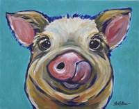 Pig Cesar Tongue Out Fine-Art Print