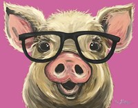 Pig Posey Glasses Pink Fine-Art Print