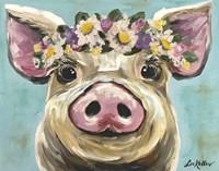 Pig Rosie Flower Crown 3 Fine-Art Print