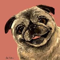 Pug On Peach Fine-Art Print