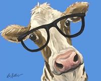 Cow Glasses Blue Fine-Art Print