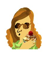 Lady With Cupcake Fine-Art Print