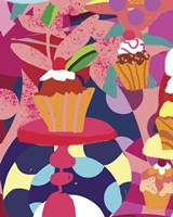 Cupcakes With Abstract Background Fine-Art Print