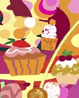 Desserts With Abstract Background Fine-Art Print