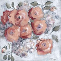 Hydrangeas and Roses Floral Party Fine-Art Print
