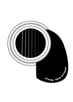 Black and White Minimalist Guitar D Fine-Art Print