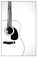 Black and White Classic Guitar, Fine-Art Print