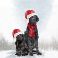 Christmas Dogs Fine-Art Print