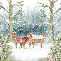 Christmas Deer Group Fine-Art Print