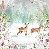 Two Deer Woods Fine-Art Print