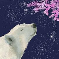 Polar Bear Pink Foliage Fine-Art Print