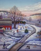 Winter Farm Fine-Art Print